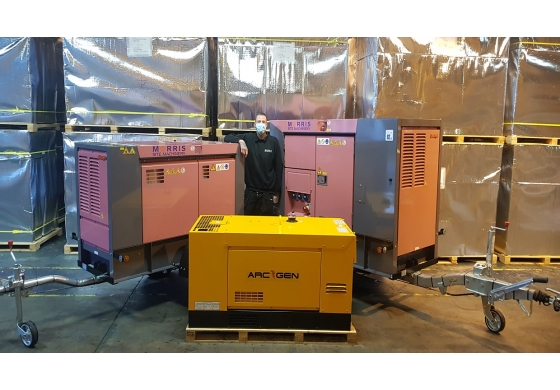 £4 MILLION STOCK INVESTMENT IN GENERATORS AND WELDERS
