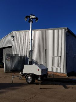 SMC TL55 BATTERY Lighting Tower with 110VOLT CHARGER