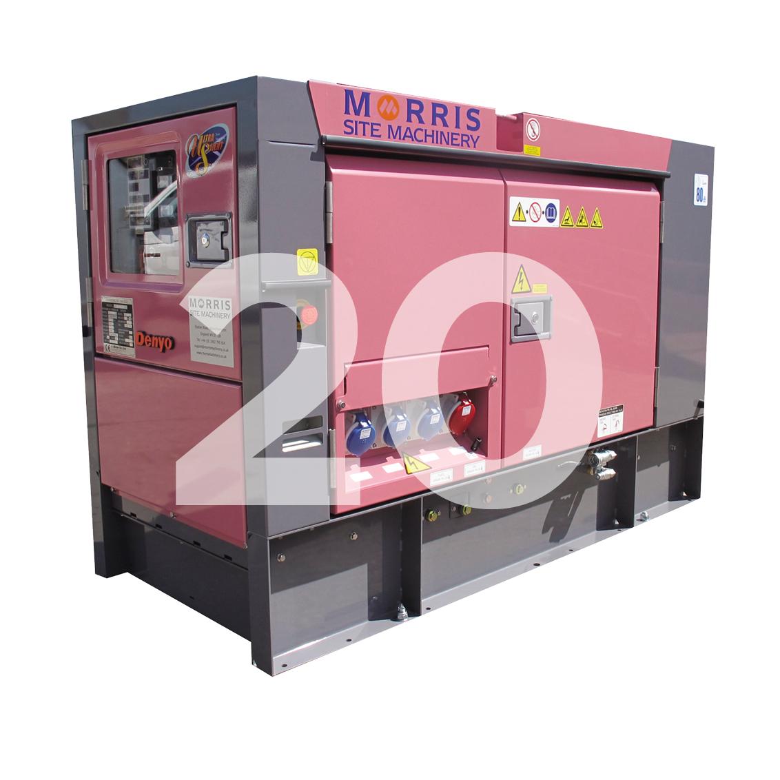 Denyo Eventa 20KVA Diesel Generator